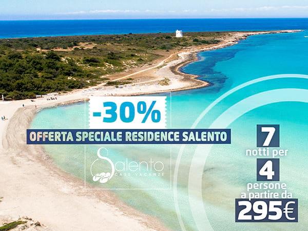 Speciale Residence: Vacanze nel Salento con Sconto del 30%
