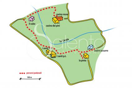 The map of the estate