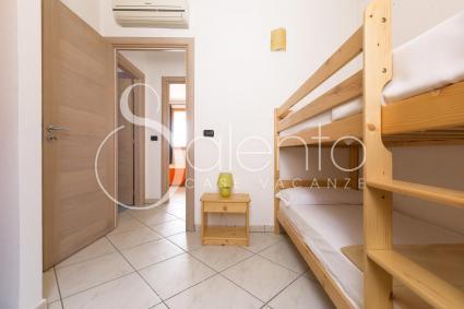 La camera doppia ha un comodo letto a castello