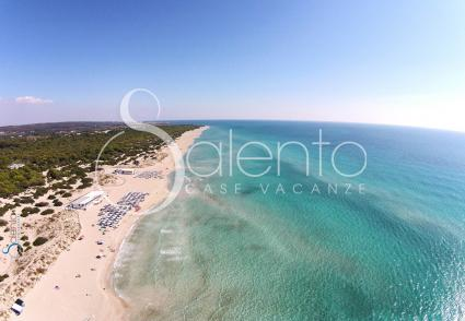 The beautiful beach of Torre San Giovanni seen from the drone