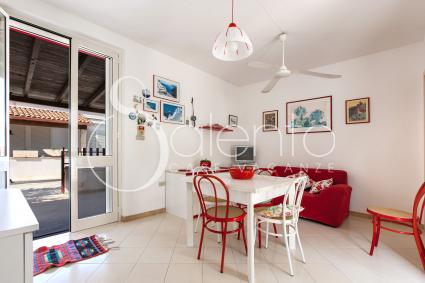 Living room of the house for rent in Leuca