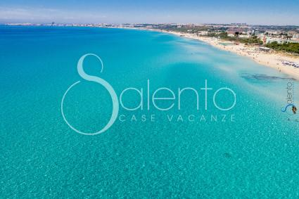 The beautiful beach drone view, a few steps from the holiday home in Puglia