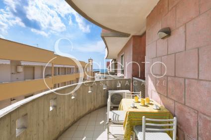 Il balcone dell`appartamento