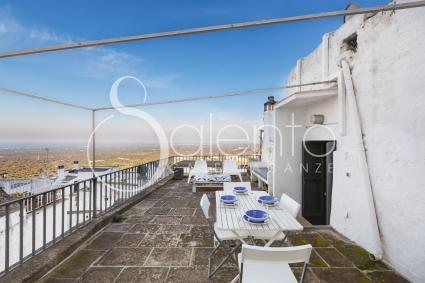 Panoramic balcony with view on Ostuni and on the Adriatic sea.