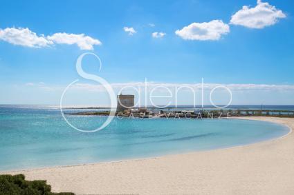 the beautiful beach in Porto Cesareo