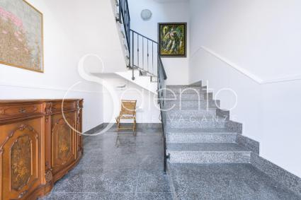 the staircase to the second floor