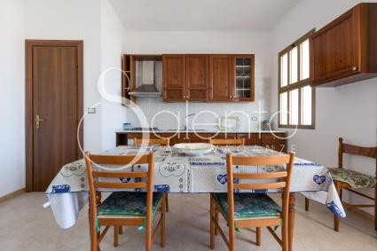 open kitchen and dining table