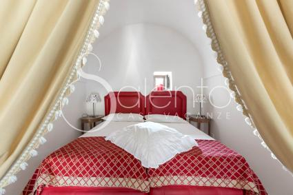 the master bedroom in the alcove