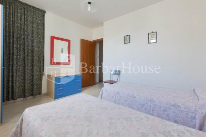 La camera doppia dell`appartamento in affitto sul mare del Salento
