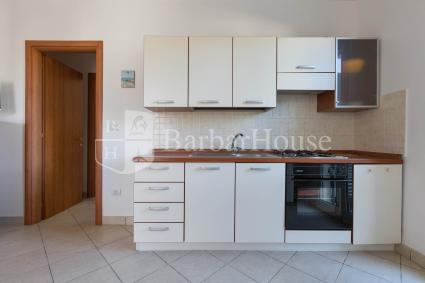 Open kitchen with electric oven