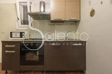 Kitchenette with electric oven and microwave oven