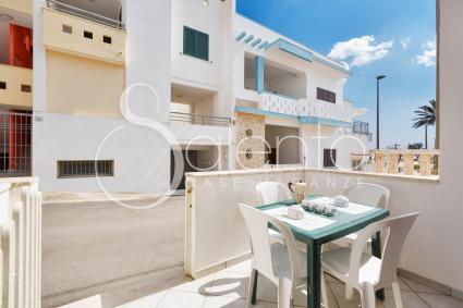 The small verandah of the holiday home 100 meters away from the beach