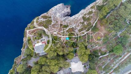 Villa Li Funni seen from the drone