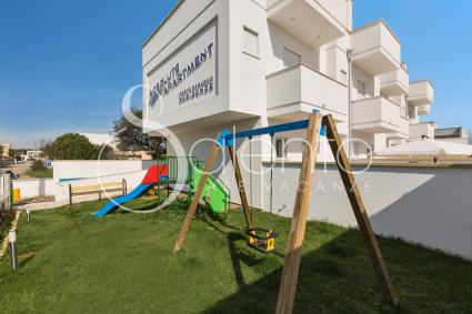 The playground for the younger guests of the apartments for rent in Salento