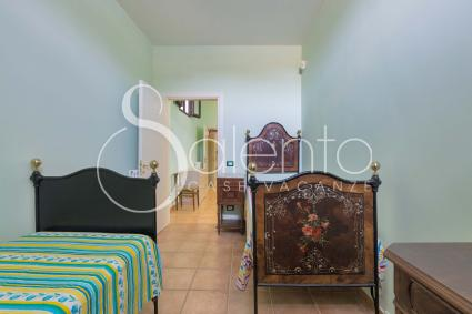 The double bedroom of the holiday home in Salento