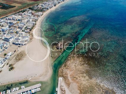 La spiaggia vicina alla casa vacanze in affitto, vista drone