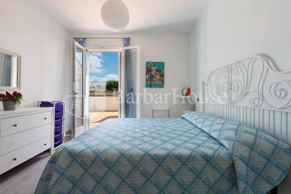 Master bedroom of the holiday home near Porto Cesareo