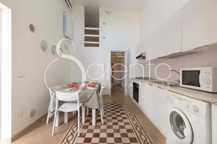 Open kitchen with access to the garden, dishwasher, washing machine and oven