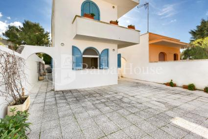 The holiday home is on the ground floor of a small villa