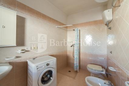 The first of the two bathrooms with shower is also equipped with a washing machine