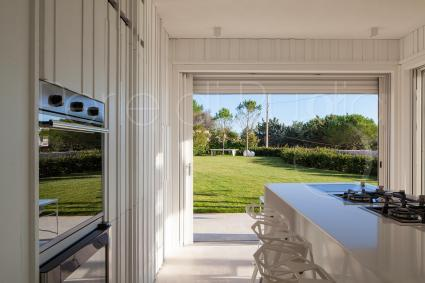 From the kitchen you can enjoy a beautiful and relaxing view of the surrounding nature
