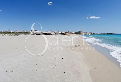 La spiaggia di Torre Mozza, vicina alla villetta per vacanze