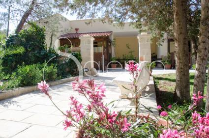 La tenuta è incorniciata da un bel giardino curato