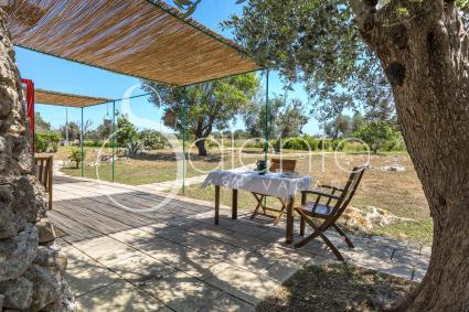 Large outdoor furnished areas
