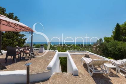Renovated trullo with terrace and sea view in Pescoluse