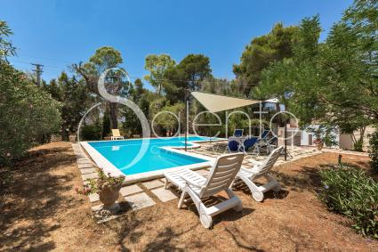 The beautiful pool of the villa for holidays in Salento