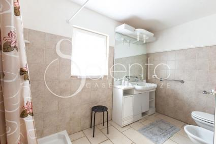 Bright and large bathroom with shower