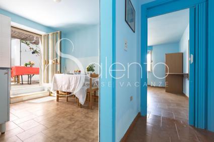 passageway between living room and sleeping area