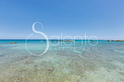 The splendid sea of the Melendugno on the Adriatic Sea