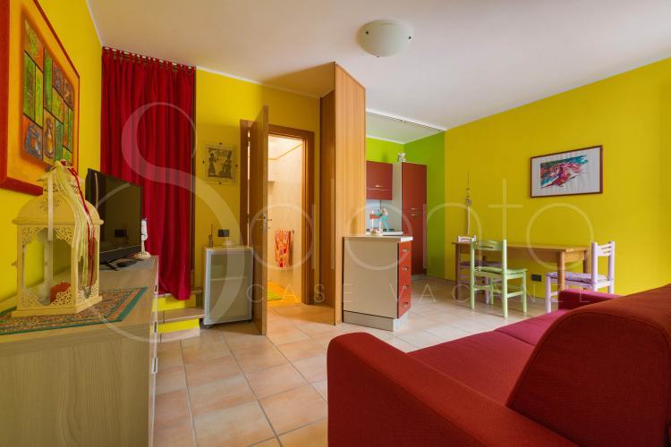 La camera da letto matrimoniale della casa vacanze in affitto, zona di Otranto