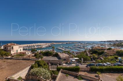 La vista panoramica sul mare del Salento