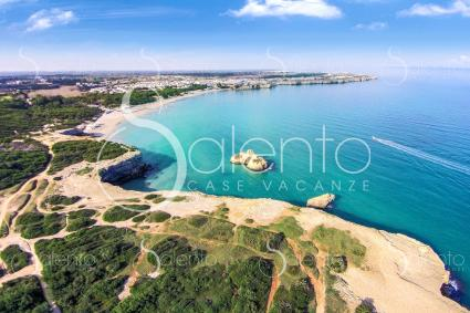 Torre dell`Orso with drone view, cwith the legendary